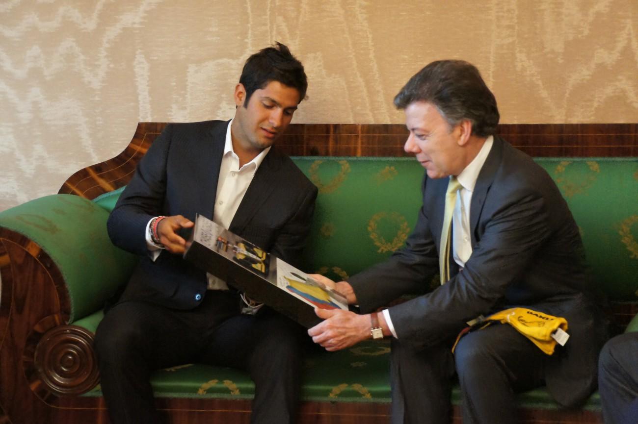 Con el Presidente Juan Manuel Santos